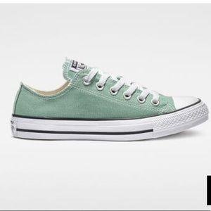 Converse All Star Low Tops Mint seafoam green